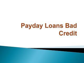 payday loans bad credit