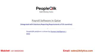 PeopleQlik-#1 HR, Payroll & Performance Management Software in Qatar