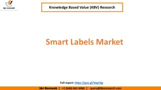 Smart Labels Market to reach a market size of $14.0 billion by 2023 – KBV Research