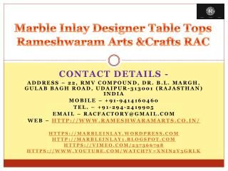 Marble Inlay Designer Table Tops Rameshwaram Arts &Crafts RAC