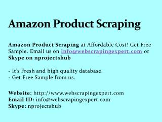 Amazon Product Scraping