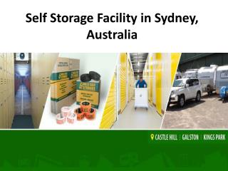 Self Storage Services in Sydney, Australia.