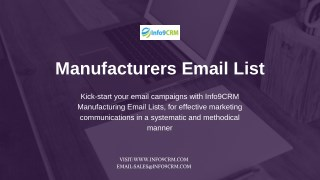 Manufacturers Email Lists