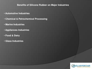 Silicone Rubber for Different Industries