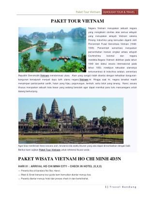 Paket tour vietnam murah