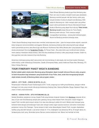 Paket wisata bandung City Tour Murah