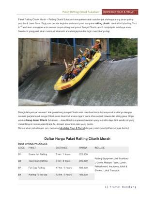 Rafting Citarik Sukabumi - Paket Arung Jeram