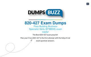 820-427 VCE Dumps - Helps You to Pass Cisco 820-427 Exam