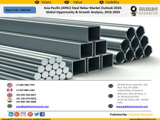 Asia Pacific (APAC) Steel Rebar Market Outlook 2024: Global Opportunity & Growth Analysis, 2016-2024