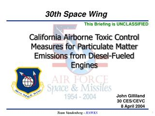 California Airborne Toxic Control Measures for Particulate Matter Emissions from Diesel-Fueled Engines