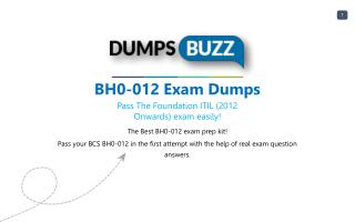 Purchase Latest BH0-012 exam sample questions VCE with PDF