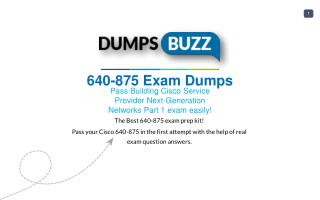 The best way to Pass 640-875 Exam with VCE new questions