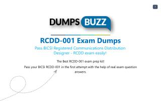 Updated RCDD-001 Dumps Purchase Now - Genius Plan!