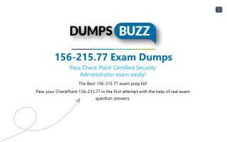 Valid 156-215.77 Exam VCE PDF New Questions