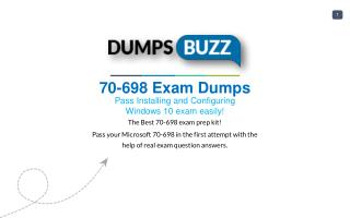 Valid 70-698 Exam VCE PDF New Questions