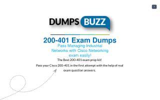 Cisco 200-401 Braindumps - 100% success Promise on 200-401 Test