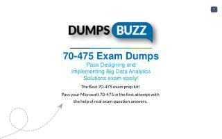Valid 70-475 Braindumps - Pass Microsoft 70-475 Test in 1st attempt