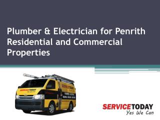 Plumber & Electrician for Penrith Residential and Commercial Properties