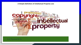 A Simple Definition of Intellectual Property Law