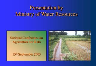Presentation by  Ministry of Water Resources
