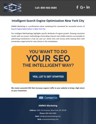 Intelligent Search Engine Optimization New York City