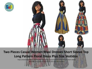 Two pieces casual women maxi dresses