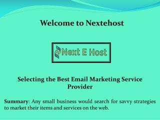 Enterprise email marketing, Simple Mail Transfer Protocol Server - nextehost