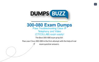 The best way to Pass 300-080 Exam with VCE new questions