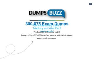 Cisco 300-075 Test Braindumps to Pass 300-075 exam questions