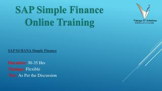 SAP Simple Finance Course Content PPT