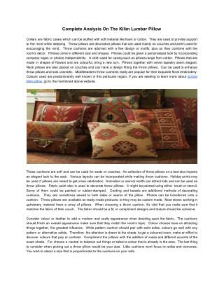 Complete Analysis On The Kilim Lumbar Pillow