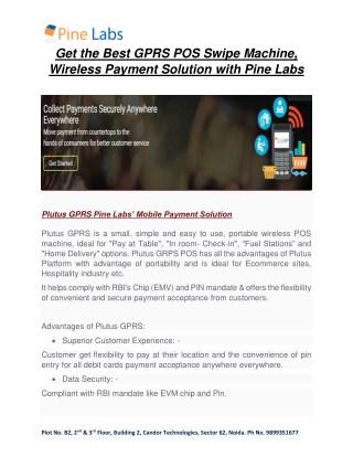 Best GPRS POS Swipe Machine, Wireless Payment Solution