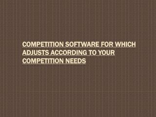 Competition software to evade scrupulous competition
