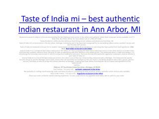 Vegetarian Restaurant in Ann Arbor | Indian beverages in Ann Arbor