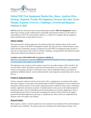 WiFi Test Equipment Market | 2018 Global Top Industry Players Analysis and Forecast to 2025