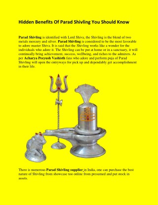 Hidden Benefits Of Parad Shivling You Should Know