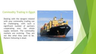 Commodity Trading in Egypt