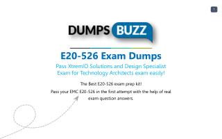 Get real E20-526 VCE Exam practice exam questions