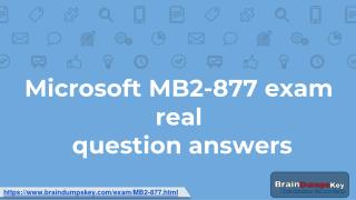 The Right Place for Microsoft MB2-877 Study Guide