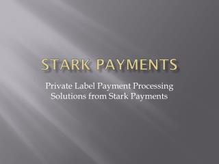 Private Label Payment Processing Solutions from Stark Payments