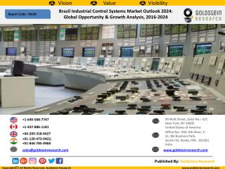 Brazil Industrial Control Systems Market Outlook 2024:  Global Opportunity & Growth Analysis, 2016-2024