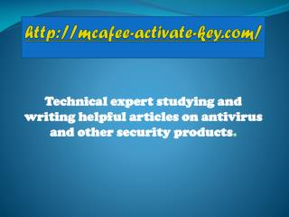 Easy to Download, Install and Use McAfee Activation Key