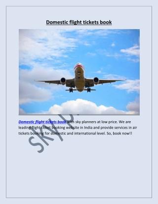 Domestic flight tickets book