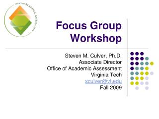 Focus Group Workshop
