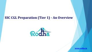 SSC CGL Preparation (Tier 1) - An Overview