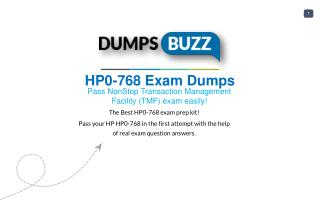 HP HP0-768 Test Braindumps to Pass HP0-768 exam questions