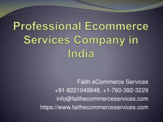 Professional Ecommerce Services Company in India
