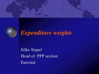 Expenditure weights