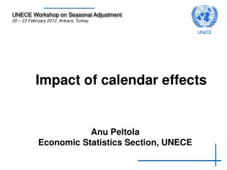 Impact of calendar effects