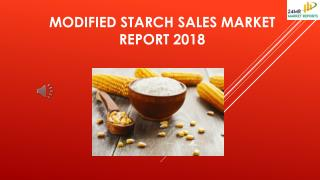 Modified Starch Sales Market Report 2018